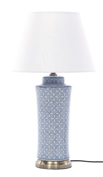 Lampa stołowa z abażurem Anabel 18x18x51cm zdjęcie 2