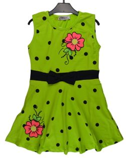 Sukienka Majka zielona, bawełna roz.152