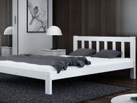 Łóżko 160x200 Wysokie Ofelia Białe/ Szare + Stelaż