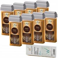 8 x ItalWax Flex Oud wysokoplastyczny transparentny wosk do depilacji grubych i mocnych włosów w rolce 100ml do depilacji dużych obszarów owłosienia + paski GRATIS
