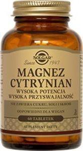 SOLGAR Magnez cytrynian, 60 tabl.