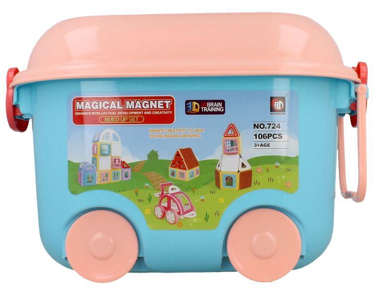 Edukacyjne klocki magnetyczne MAGICAL MAGNET no.724 106 elementów Y39 zdjęcie 3