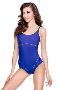 Kostium pływacki CORA Rozmiar - Stroje damskie - 42(XL), Kolor - Stroje damskie - Cora - 28 - niebieski / zielony