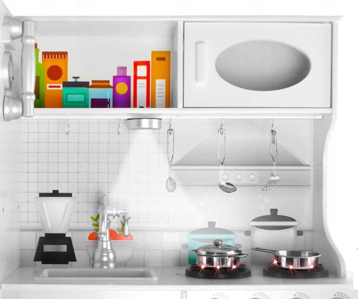 Duża Kuchnia Drewniana Dla Dzieci Światła Dźwięk Akcesoria Z369 zdjęcie 6