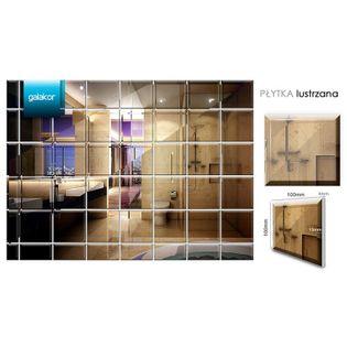 Płytka lustrzana kwadratowa 10 x 10 cm