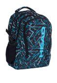 Plecak szkolny młodzieżowy Astra Head HD-256, czarno-niebieski