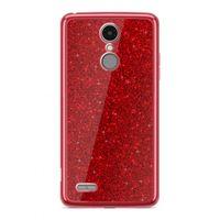 Etui Nakładka Electro Glitter  LG K8 2017 Czerwony