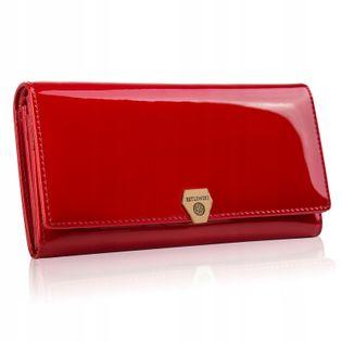 BETLEWSKI portfel damski skórzany RFID lakierowany