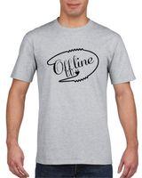 Koszulka męska Offline M Szary