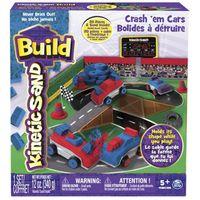 Kinetic Sand build piasek konstrukcyjny samochody i zderzaki 340g