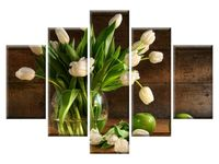 Kremowe tulipany 5H 150x105 obity GRATISY