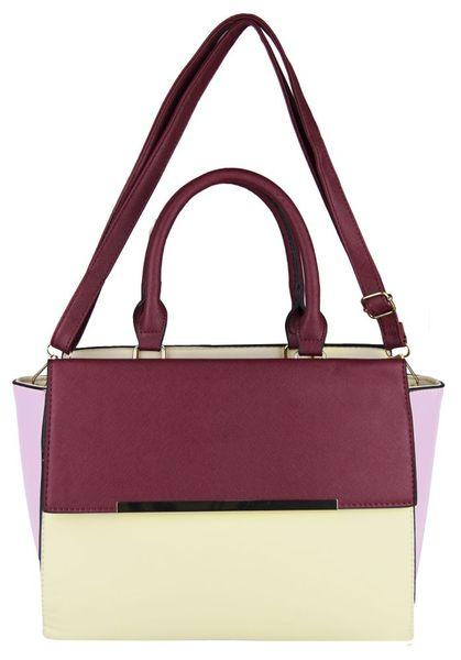 318f6a0c107ff Piękna torebka damska kuferek + listonoszka FB154 Kolor  beż róż burgund  zdjęcie 4