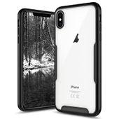 Zizo Fuse Case Etui ochronne iPhone Xs Max + szkło na ekran (przeźroczyste/czarne)