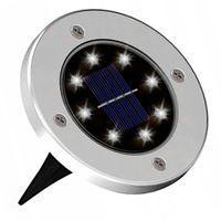 Lampka gruntowa solarna Disk light