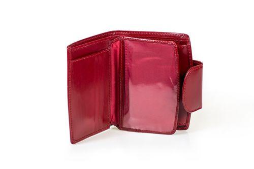 Skórzany portfel damski Cartello D300 Kolor - Czerwony na Arena.pl