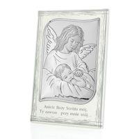 Srebrny obrazek prezent z okazji I Komunii GRAWER