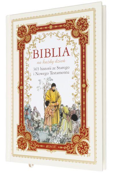 BIBLIA DLA DZIECI 365 HISTORII z grawerem PAMIĄTKA CHRZTU KOMUNII zdjęcie 1