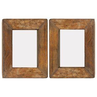 Lumarko Ramki na zdjęcia, 2 szt., 23x28 cm, drewno z odzysku i szkło!