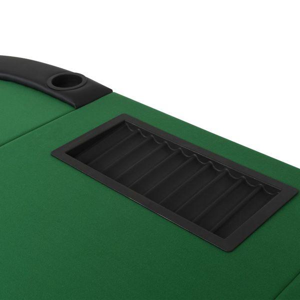 Składany, owalny stół do pokera dla 9 graczy, zielony zdjęcie 6