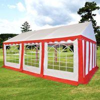 Namiot Ogrodowy Z Pvc, 4X6 M, Czerwono-Biały