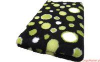Posłanie VET BED czarne w zielone koła 75x50