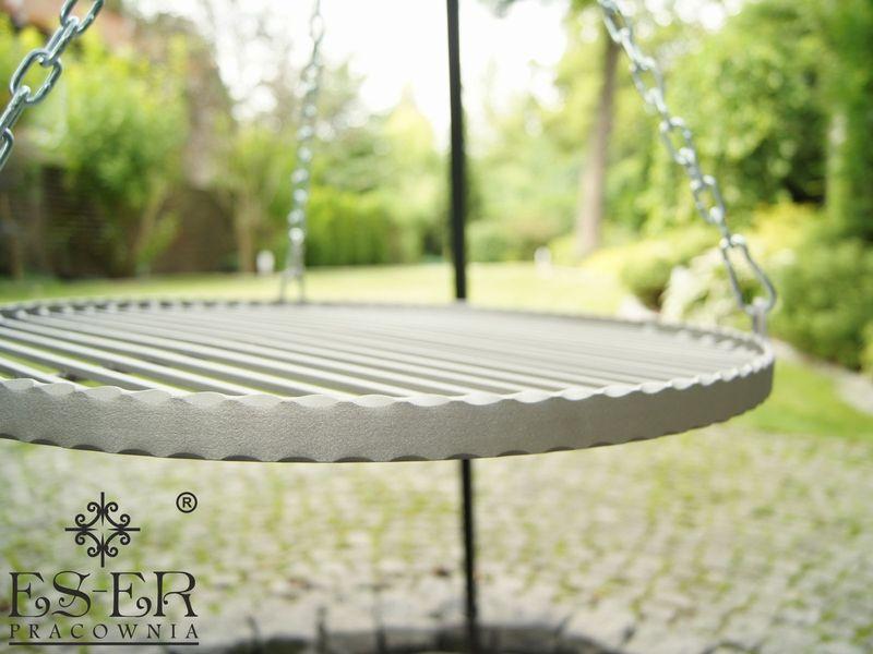 Grill ogrodowy na trójnogu PIOTR z rusztem stalowym 50 cm ES-ER zdjęcie 2