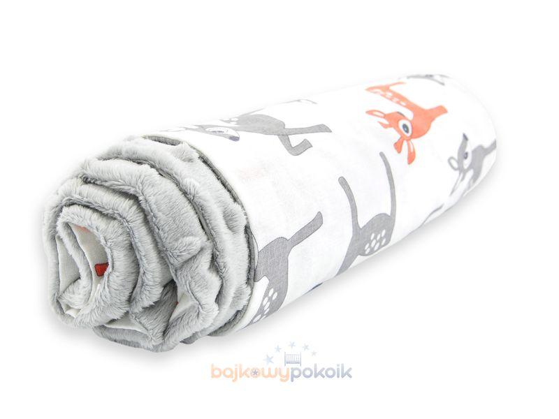 Kocyk koc BAWEŁNA / MINKY 50x75 cm Sarenki zdjęcie 2