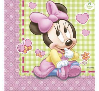 Serwetki Minnie - Baby na URODZINY ROCZEK 20szt