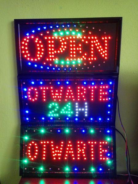 TABLICA LED NEON PANEL REKLAMA OTWARTE 24H OPEN zdjęcie 2