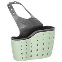 Pojemnik kuchenny 15x8,5cm organizer na gąbki do zlewu zielono-szary