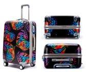 Walizka Podróżna Bagaż na Kółkach Mała 65x40 cm Multicolor Butterfly