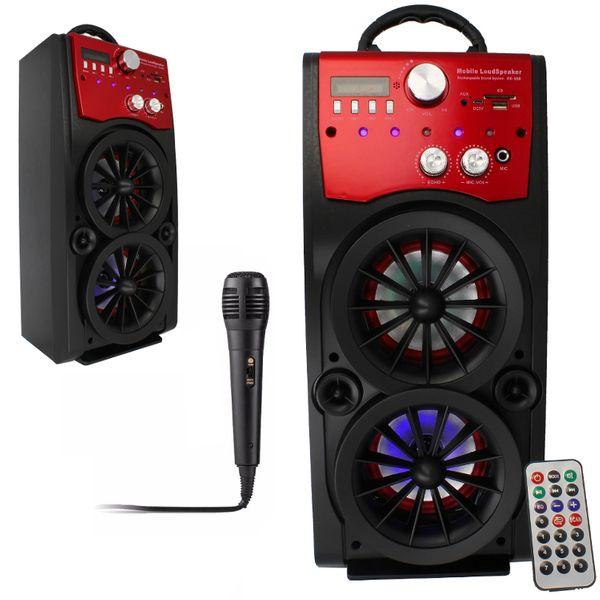 Głośnik Miniwieża Boombox 60W LED Bluetooth + Mikrofon RX-S50 G208Z zdjęcie 13