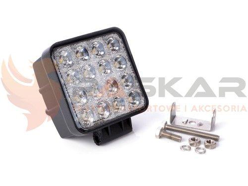 Lampa robocza 16 LED 12V - 24V 48W 16x3W zdjęcie 2