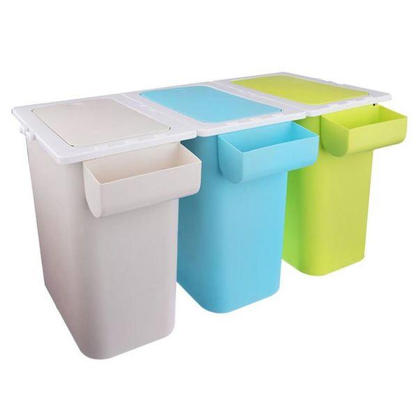Kosz na odpady śmieci do segregacji POTRÓJNY 3x13L zdjęcie 2