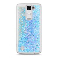 Etui Nakładka Płynny Brokat  LG K8 Niebieski