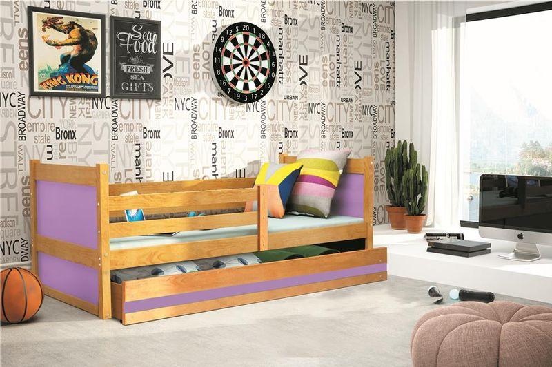 Łóżko RICO dla dzieci pojedyncze dla jednej osoby 190x80 + MATERAC zdjęcie 4