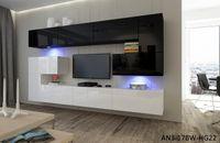 Meblościanka ALBANIA N3 nowoczesne meble do Salonu LED połysk Hit