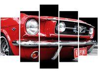 100cm 150cm obraz 5 elem Red Mustang Y ścienny druk cyfrowy