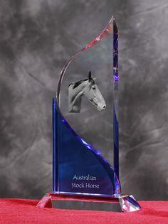 Australian Stock Horse- Kryształowa statuetka z podobizną konia.