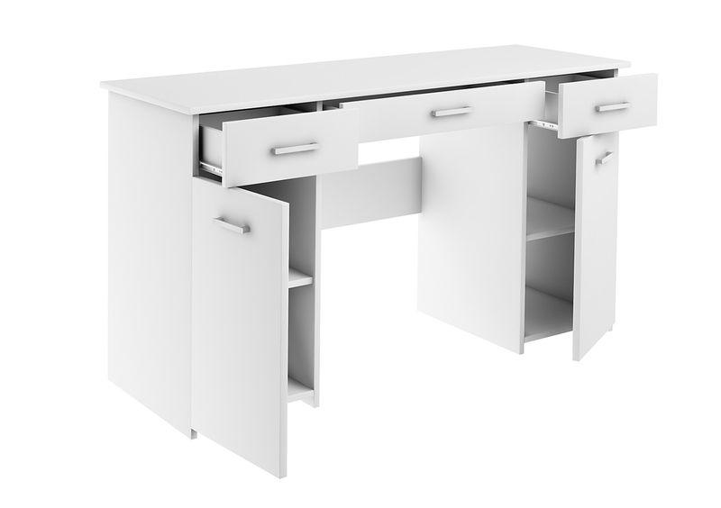 Biurko Bis Biały Duże Szkolne Młodzieżowe Pod Laptop Producent