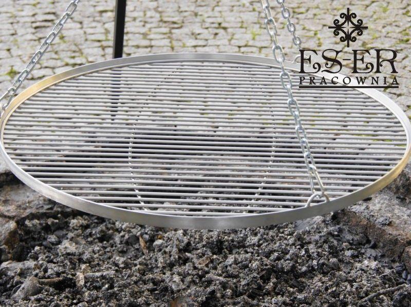 Grill ogrodowy na trójnogu PIOTR z rusztem nierdzewnym 70 cm ES-ER na Arena.pl