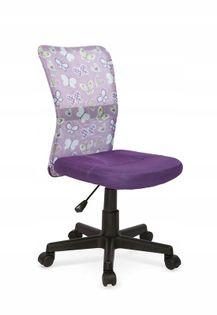 Fotel do biurka DINGO młodzieżowy FIOLET obrotowy