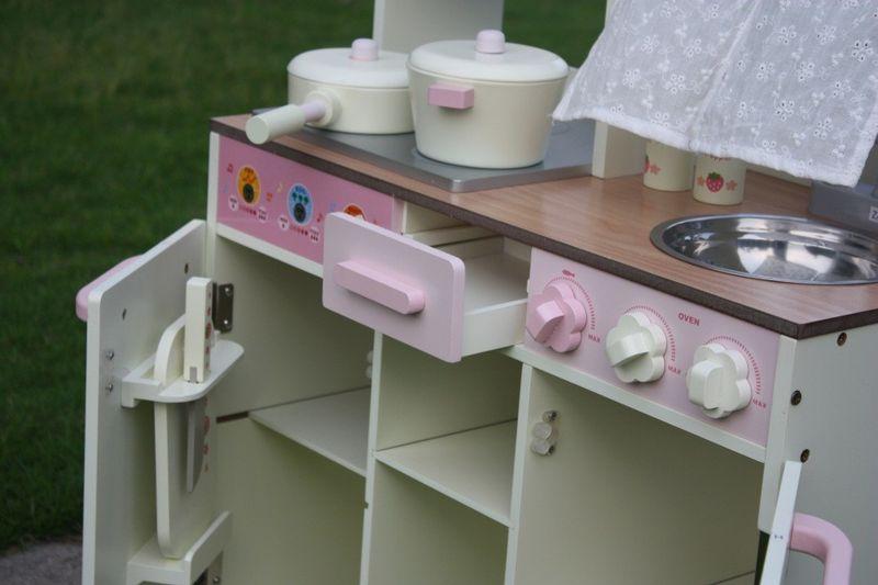 Drewniana Kuchnia Dla Dzieci VINTAGE - Duży Zestaw zdjęcie 7