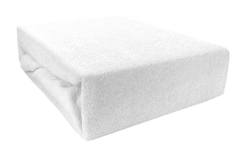 83168b4be3b6ea Prześcieradło bawełniane z gumką 180x200 Frotte 01 (białe) Rozmiar -  180x200 zdjęcie 1