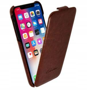 Etui z Klapką Skóra do Apple iPhone X, iPhone Xs