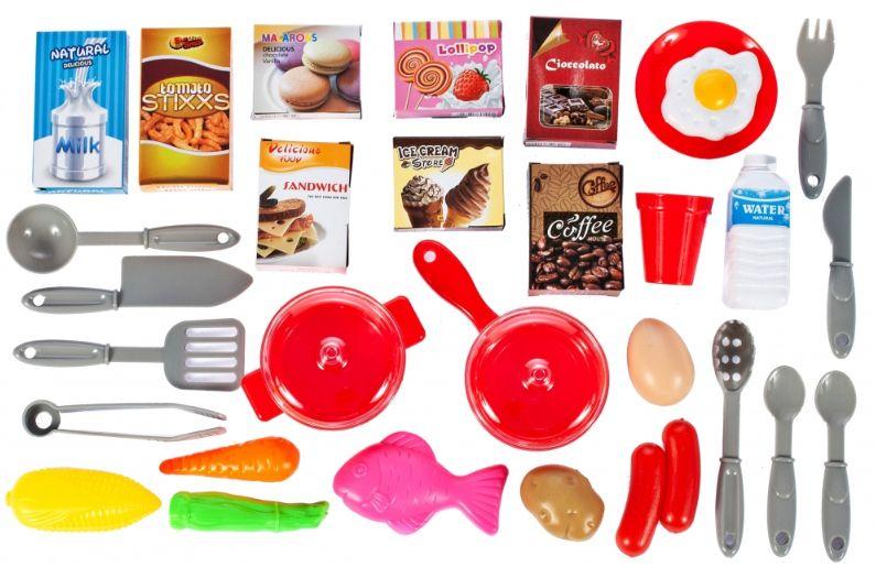 Duża Kuchnia dla dzieci Piekarnik Zlew Akcesoria kuchenne Kran U38 zdjęcie 10