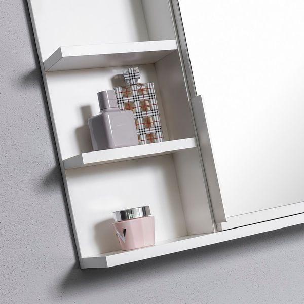 Biała szafka z lustrem do łazienki lewa, z 3 półkami, nowa zdjęcie 2