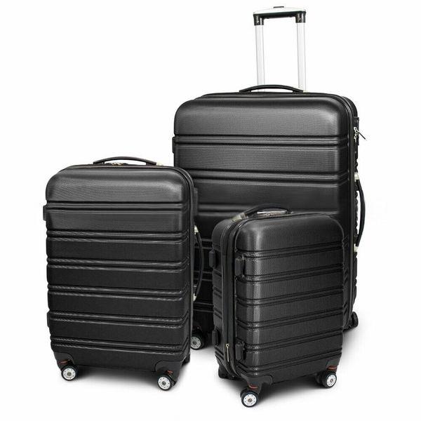 Walizki set zestaw 3 walizek CZARNE zdjęcie 1