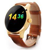 ZŁOTY smartwatch zegarek bluetooth pulsometr K88H skórzany pasek