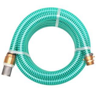 Wąż ssący z mosiężnymi złączkami, 15 m, 25 mm, zielony